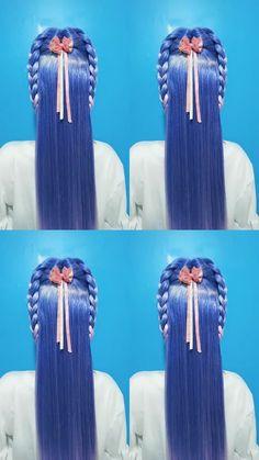 Bun Hairstyles For Long Hair, Braids For Long Hair, Girl Hairstyles, Braided Hairstyles, Hot Hair Styles, Medium Hair Styles, Natural Hair Styles, Hair Tutorials For Medium Hair, Hair Upstyles