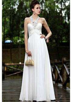 Chiffon Sweetheart with Hollow-out Halter Strap Cocktail/Evening/Prom Dresses