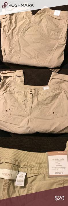 Chico's tan Capri pants size 3 Brand new Chico's Pants Capris