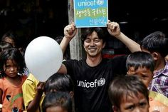 Gong Yoo ❤❤ with UNICEF in Cambodia