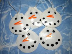 Seashell Ornaments | Laci's Christmas Tree theme is Snowmen! Like I said on Facebook ...