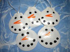 Seashell Ornaments | Laci's Christmas Tree theme is Snowmen! Like I said on Facebook ...