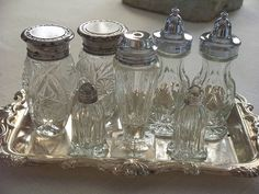 Silver and Glass Jars