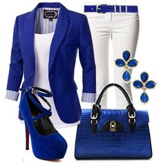 Not a fan of blue but loving this look.