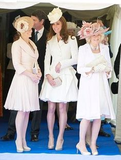 L-R) Sophie Rhys-Jones, Countess of Wessex, Catherine, Duchess of Cambridge and Camilla, Duchess of Cornwall attend the annual Order of the Garter Service at St George's Chapel, Windsor Castle on June 18, 2011 in Windsor, England. The Order of the Garter is the senior and oldest British Order of Chivalry, founded by Edward III in 1348.