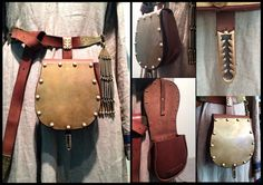 Hungarian Magyar style leather belt pouch от LongBranchVikings