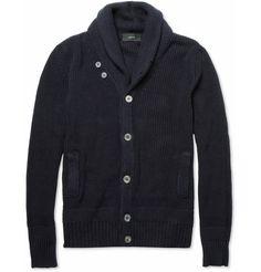 zanone chunky shawl collar cotton blend cardigan (minus the price tag)
