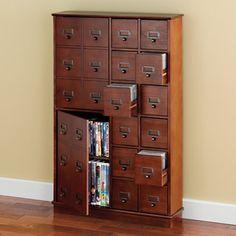 The E Saving Cd Dvd Storage Cabinet Hammacher Schlemmer