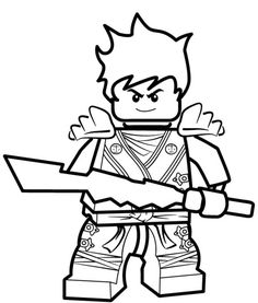 kai ninjago coloring pages for kids printable free lego coloring page