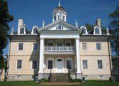 TOWSON, MD: Hampton Mansion, home to the RIdgely Family, was the largest private home in America when it was completed in 1790 and today is considered to be one of the finest examples of Georgian architecture in the U.S.  Garden facade.