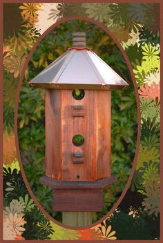 Song Birdhouse Copper and Stain