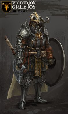 Warrior fighter axe and shield