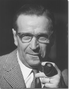 Georges Simenon (1903-1989) best known as the creator of the fictional detective Jules Maigret.