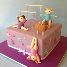 Gymnastics cake - by Wicked Cakes