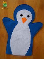 Títere de mano de pingüino