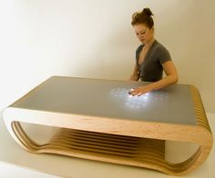 Interactive LED Tables (I believe it was Lenore and Windell at EvilMadScientist Labs who developed this)