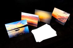 4 pk 5x7 #sunset #greetingcards by OccasionalNoteCards.etsy.com #etsy
