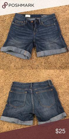 Denim Shorts barely worn straight shorts mid rise GAP Shorts Jean Shorts