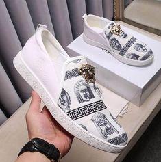 a5fccb8ba Versace Canvas Slip-on Sneakers Calzado Hombre