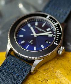 Elegant Swiss made watch for men. Water resistant: 300 meters Photo: Hodinkee  #swissmade #luxurywatches #watchesformen #waterresistantwatch