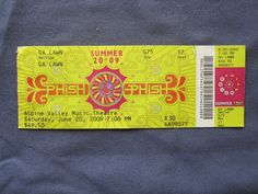 Phish, Alpine Valley Music Theatre, 6/20/2009, 49.50