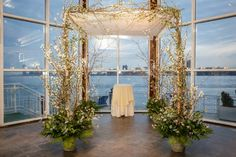 #chuppah overlooking Hilton Head, Beach.  Wedding was held at a #reform synagogue #mazeltov #ClassicMJW http://bit.ly/1u78LKy