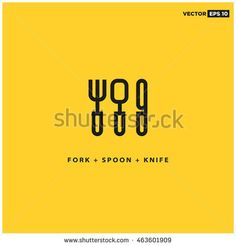 stock-vector-spoon-fork-knife-icons-line-art-vector-illustration-in-flat-style-design-463601909.jpg (450×470)