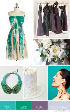 Color Palette: Teal, Jade, Plum and Violet Gray