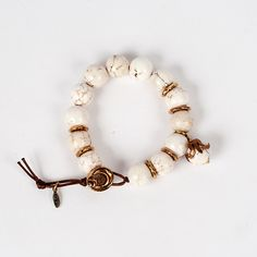 Magnesite represents peace. Feel inspired to create positive change whenever you wear this bracelet.