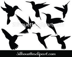 Hummingbird Silhouette Clipart