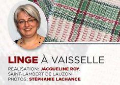 Linge à vaisselle - Les Cercles de Fermières du Québec Weaving Patterns, Pot Holders, How To Plan, Cards, Montage, Fabrics, Lol, Crochet, La Perla Lingerie