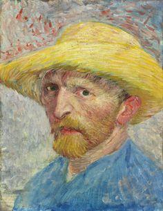 """""""Self-Portrait,"""" Vincent van Gogh, 1887, oil on canvas."""