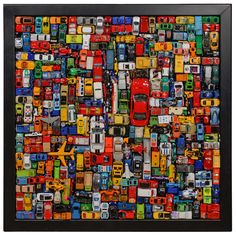 Car Art- Contemporary Car Collouge | From a unique collection of antique and modern contemporary art at http://www.1stdibs.com/furniture/wall-decorations/contemporary-art/