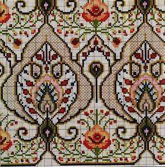 A stitch in time saves the mind. Cross Stitch Borders, Cross Stitch Flowers, Cross Stitch Designs, Cross Stitching, Cross Stitch Patterns, Folk Embroidery, Cross Stitch Embroidery, Embroidery Patterns, Cross Stitch Freebies