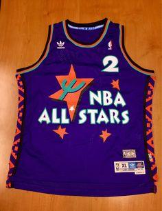 7fc0540d5 Larry Johnson Adidas All Star Jersey jordan shaq hill ewing barkley  olajuwon kemp kidd penny hardaway stockton malone miller knicks champion