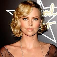 Another great idea for vintage old hollywood styled hair. Charlize Theron