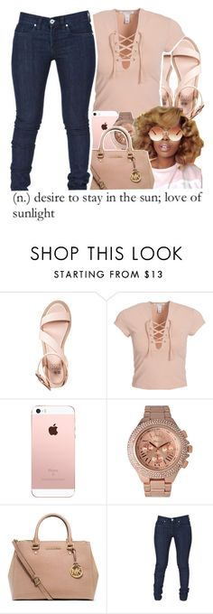 """""""Heliophilia"""" by chynelledreamz ❤ liked on Polyvore featuring even&odd, NLY Trend, Geneva, MICHAEL Michael Kors and Topshop"""