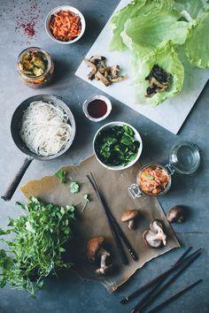 Korean kimchi wraps