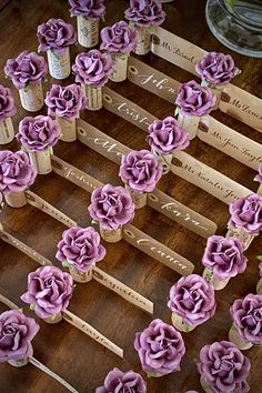 Explore unique Wedding Place Card Holder ideas by Kara's Vineyard Wedding. Proudly featured in weddings & special events worldwide! Mauve Wedding, Rose Wedding, Wedding Places, Wedding Place Cards, Name Card Holder, Place Card Holders, Blooming Rose, Seating Chart Wedding, Vineyard Wedding