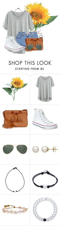 """Goodnight!"" by annaewakefield ❤ liked on Polyvore featuring Levi's, Kate Spade, Converse, Ray-Ban, Honora, Lena Skadegard and Lokai"