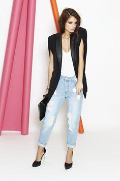 Awesome Shredded Jeans (www.nastygal.com/clothes-bottoms/awesome-shredded-jeans), Parallels Colorblock Clutch (www.nastygal.com/accessories_bags_clutches/parallels-colorblock-clutch), and Raze Light Platform (www.nastygal.com/product/raze-light-platform)