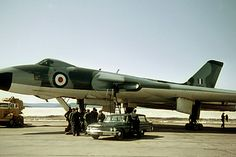 Avro Vulcan B1A XH505 of the Waddington Wing at Goose Bay in April 1964. 505 was the antepenultimate B1 being delivered to No 230 OCU in March 1959. Converted to B1A standard in 1960, 505 served with No 617 Squadron at Scampton and No 50 Squadron at Waddington before being pooled into the Waddington Wing. 505 was delivered to the fire dump at RAF Finningley in January 1968 where it perished. Military Jets, Military Aircraft, Goose Bay, Anti Flash, V Force, Nuclear Force, Avro Vulcan, Delta Wing, Post War Era