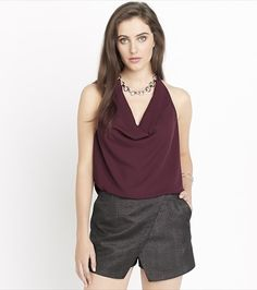 Draped Tank With Back Lace