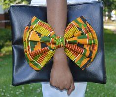 Black Ankara Billie Jean Bowtie Bag