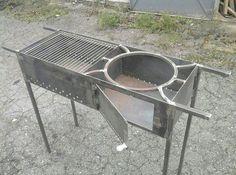Wine barbecue grill, brasero barbecue, barbecue party ideas, g. Hot Tub Backyard, Backyard Kitchen, Fire Pit Backyard, Barbecue Ideas Backyard, Grill Diy, Barbecue Grill, Grilling, Barbecue Chicken, Bokashi