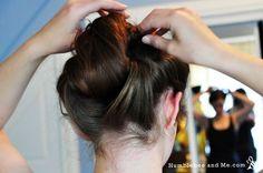 Humblebee & Me | Everyday Edwardian: Wrap & Roll Hairstyle #tutorial #vintagehairstyle #downtonabbey