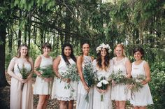 milwaukee bridesmaids (just holding different greens for bouquets)