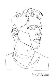 "borisschmitz:  ""Gaze 170"", one-continuous-line-drawingby Boris Schmitz, 2014 Click»HERE«if you want to see my portfolio!"