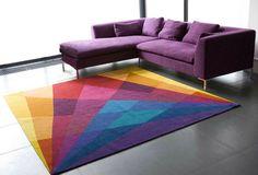 Tapetes coloridos para sala - http://www.dicasdecoracao.com/tapetes-coloridos-para-sala/