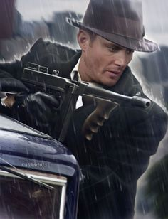 Jensen by on DeviantArt Supernatural Bloopers, Supernatural Fan Art, Supernatural Imagines, Supernatural Wallpaper, Winchester Brothers, Dean Winchester, Jared And Jensen, Jensen Ackles, Mafia Gangster